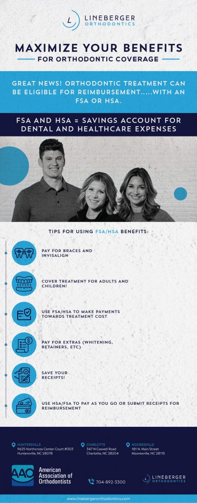 using insurance to pay for orthodontic treatment infographic